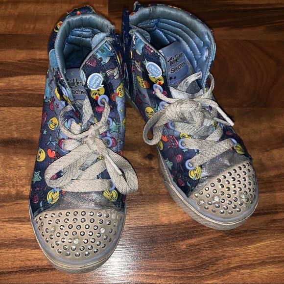 Skechers Other - Twinkle toe high tops size 1 little girl